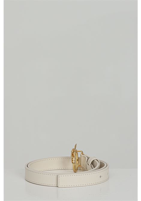 Cream belt with gold steel logo. Pinko PINKO | Belt | 1H20WV-Y6XFZ03