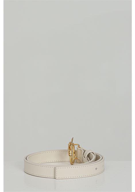 Cintura donna panna con logo gold in acciaio PINKO | Cinture | 1H20WV-Y6XFZ03