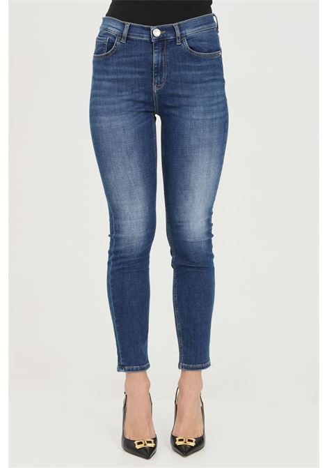 High-waisted jeans with sequins on the back. Stone wash and 5 pockets. Skinny model. Pinko PINKO | Jeans | 1J10KH-Y6KWG10