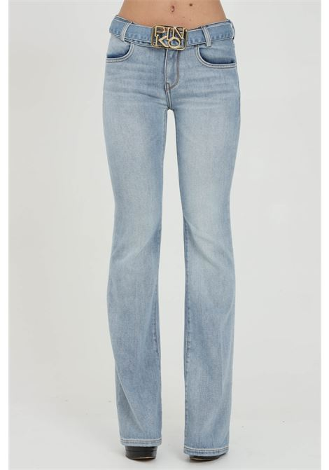 Skinny low-rise flare jeans with logo belt PINKO | Jeans | 1J10NS-Y751G14