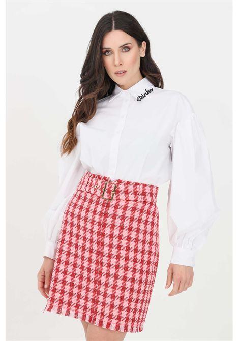 White women's shirt with wide sleeves pinko  PINKO | Shirt | 1N1376-6827Z04