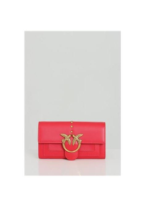 Clutch bag with shoulder strap and metal logo PINKO | Bag | 1P221Y-Y6XTR43