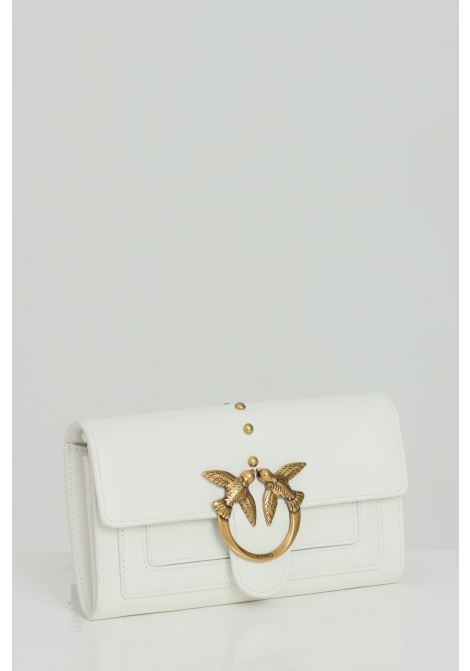 Clutch bag with shoulder strap and metal logo PINKO | Bag | 1P221Y-Y6XTZ14