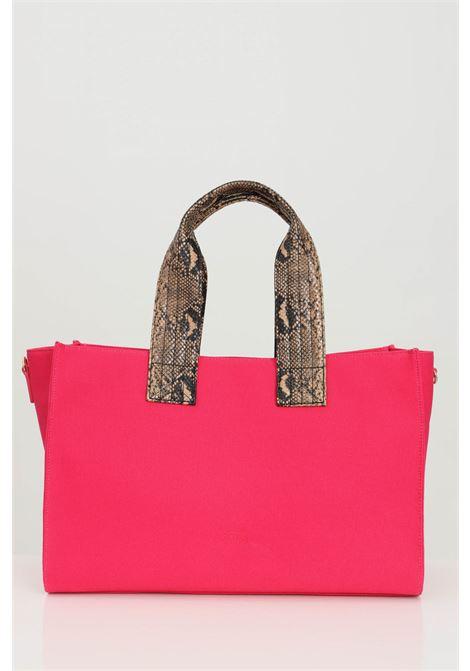 Borsa donna magenta Pinko, modello shopper in tessuto con manici stampati, chiusura con zip e tracolla removibile PINKO | Borse | 1P224E-Y6YKO96