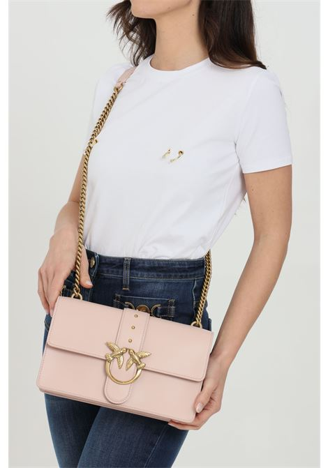 Bag with maxi gold logo PINKO | Bag | 1P2281-Y6XTO81