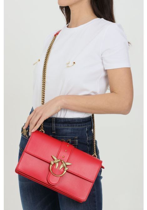 Bag with maxi gold logo PINKO | Bag | 1P2281-Y6XTR43