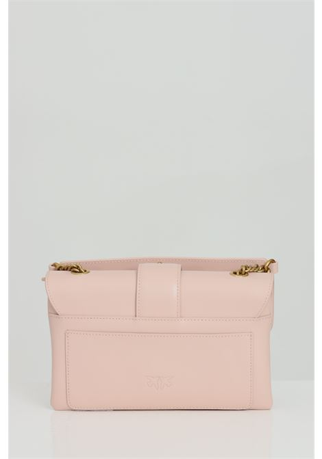 Clutch with metal shoulder strap. Logo with steel swallows PINKO | Bag | 1P2288-Y6XTO81