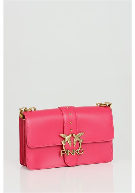 Fuchsia bag with metal shoulder strap, gold metal logo. Closure with inner zip. Pinko PINKO | Bag | 1P228G-Y6XTO96
