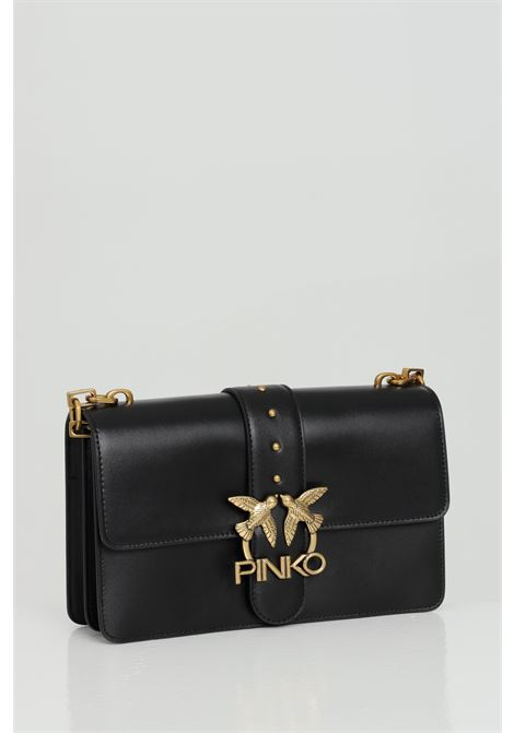 Metal shoulder bag, gold metal logo PINKO | Bag | 1P228G-Y6XTZ99