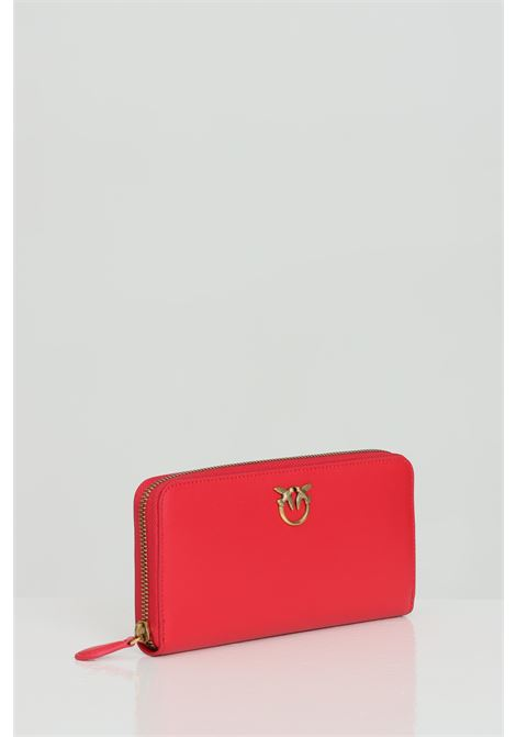 Wallet with zip and logo swallows PINKO | Wallet | 1P229H-Y6XTR43