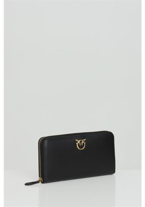 Wallet with zip and logo swallows PINKO | Wallet | 1P229H-Y6XTZ99