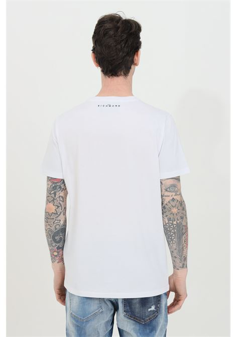 T-shirt with embroidered logo on the front RICHMOND | T-shirt | RMP21079TSHBWHITE