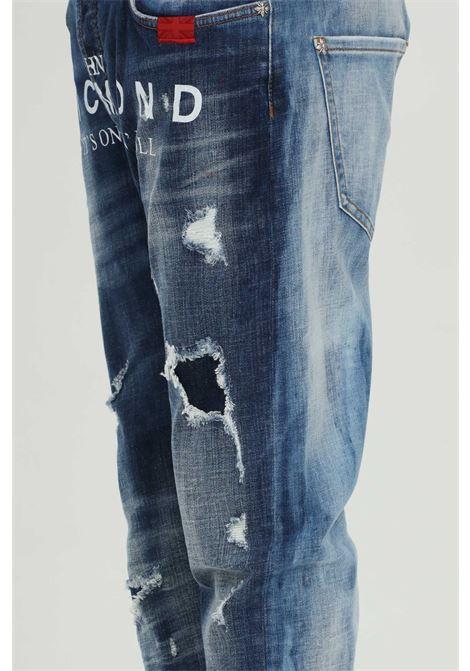Jeans Mick distressed two-tone  RICHMOND | Jeans | RMP21127JE9GD-BLUE-MED