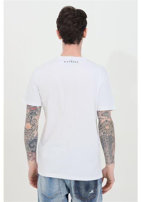 T-shirt with Federick print RICHMOND | T-shirt | RMP21182TSHBWHITE