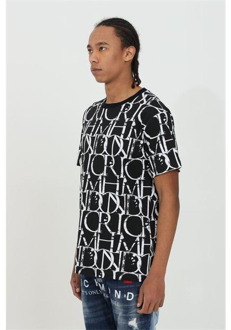 T-shirt with monogram print RICHMOND | T-shirt | RMP21211TSHBGR-BLK-WHT