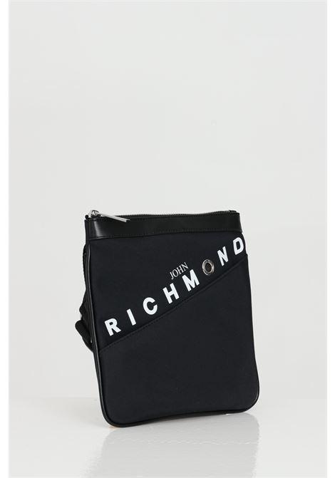 Borsellino con tracolla logata e zip RICHMOND | Borse | RMP21242BO8ABLACK