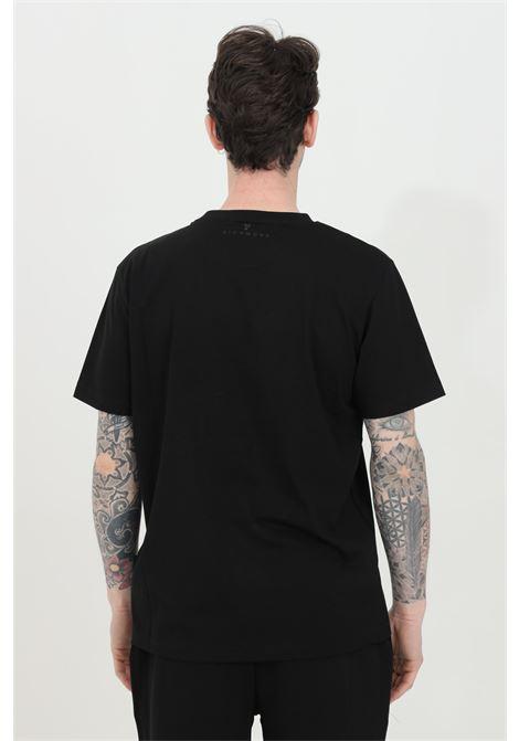 Crew neck T-shirt with front logo print RICHMOND | T-shirt | UMP21004TSOFBLACK
