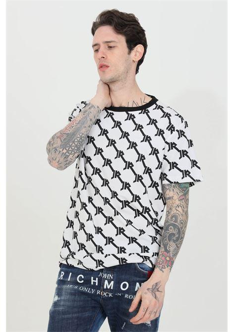 T-shirt with allover pattern print RICHMOND | T-shirt | UMP21034TSOFWHITE