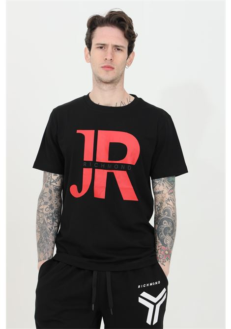 Crew neck t-shirt with maxi print on the front RICHMOND | T-shirt | UMP21046TSOFBLACK