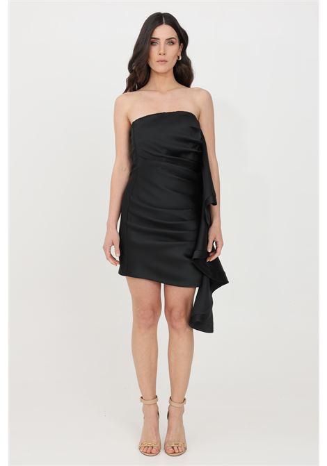 Black short dress simona corsellini SIMONA CORSELLINI | Dress | P21CFAB101-01-TDUC00080003