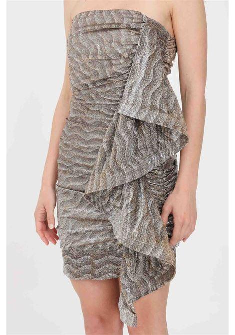 Gold short dress simona corsellini SIMONA CORSELLINI | Dress | P21CFAB101-02-TTUL00330000