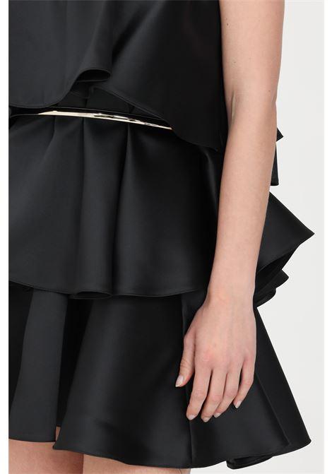 Black short dress simona corsellini SIMONA CORSELLINI | Dress | P21CFAB106-01-TDUC00080003