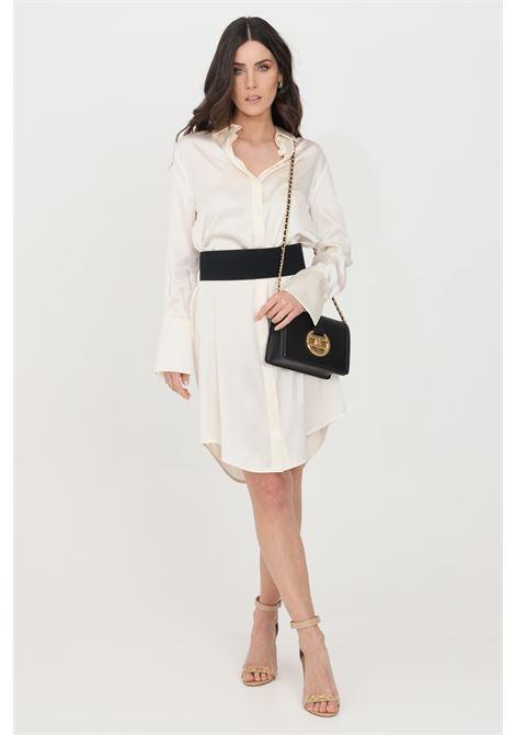 White short dress with removable belt simona corsellini SIMONA CORSELLINI | Dress | P21CPAB008-01-TRAS00250359