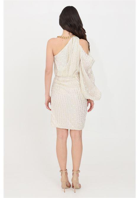 Cream short dress simona corsellini SIMONA CORSELLINI | Dress | P21CPAB019-01-TFLC00110359