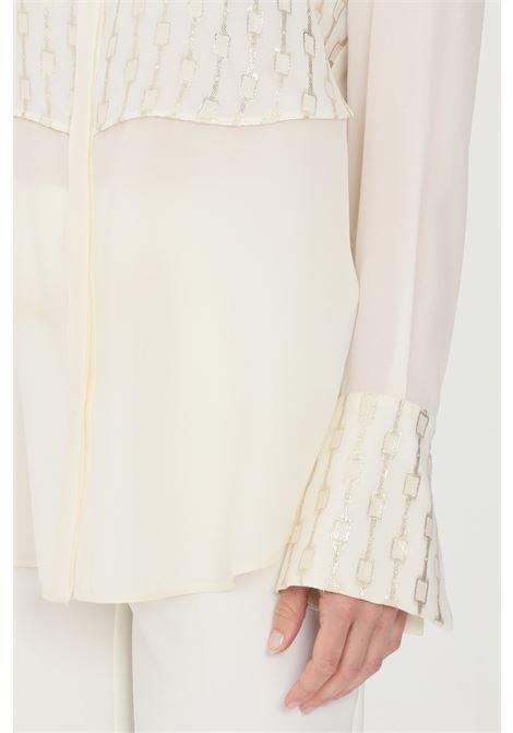 Cream elegant shirt simona corsellini SIMONA CORSELLINI | Shirt | P21CPCA009-01-TFLC00110359