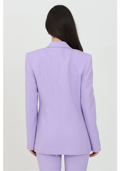 Lilac jacket, double-breasted model with gold buttons and welt pockets. Classic cut. Simona corsellini SIMONA CORSELLINI | Blazer | P21CPGI012-01-TCAD00010500