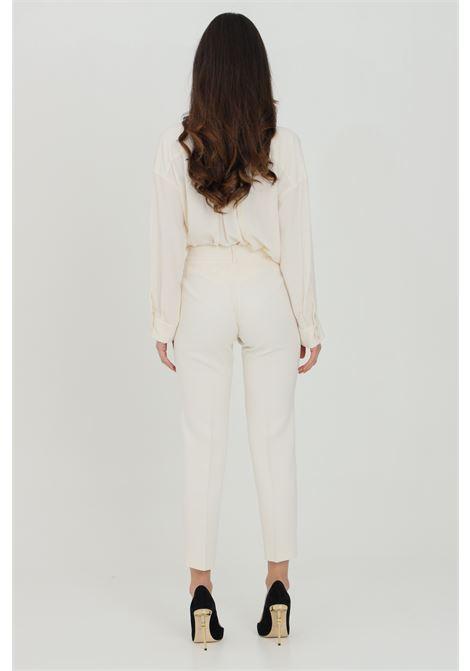 Pantalone donna panna simona corsellini elegante modello slim. Chiusura con zip e bottone SIMONA CORSELLINI | Pantaloni | P21CPPA017-01-TCAD00010359