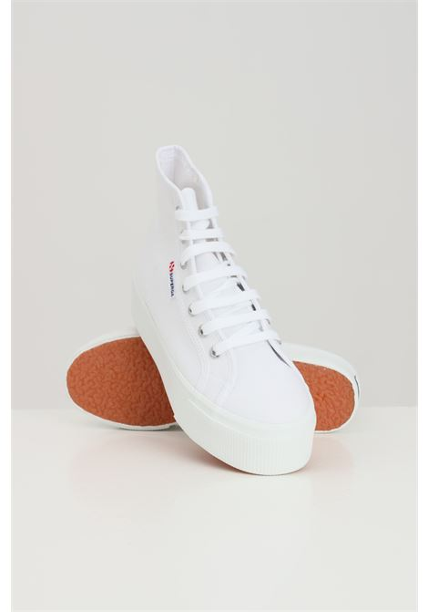 White women's superga 2705 hi top sneakers SUPERGA | Sneakers | S3111MW901