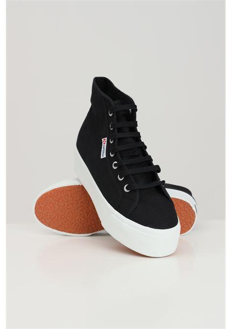 Sneakers superga 2705 hi top donna nero SUPERGA | Sneakers | S3111MWF83