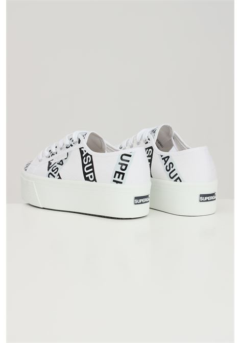 White women's superga 2790 tape jellysole sneakers with lettering print SUPERGA | Sneakers | S41161WA0O