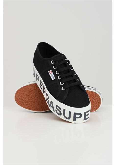 Sneakers superga 2790 platform lettering donna nero SUPERGA | Sneakers | S7117DW999