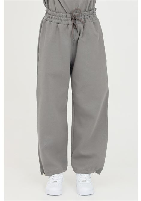 Pantaloni unisex grigio the future casual con coulisse sul fondo THE FUTURE | Pantaloni | TF0006GREY