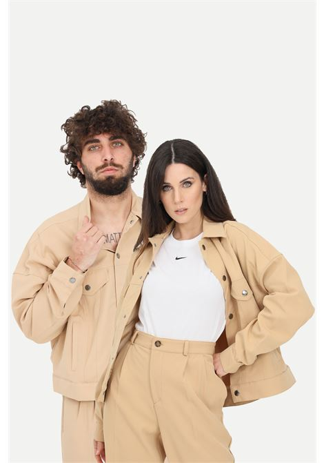Giubbotto unisex beige the future giacca a vento THE FUTURE | Giubbotti | TF0007BEIGE