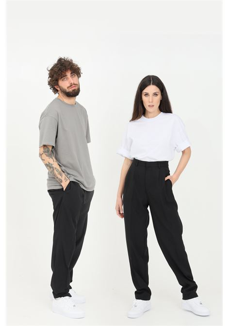 Black unisex trousers in solid color. The future  THE FUTURE | Pants | TF0008NERO