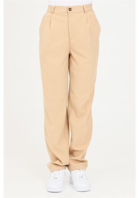 Pantaloni unisex beige the future casual in tinta unita THE FUTURE | Pantaloni | TF0013BEIGE