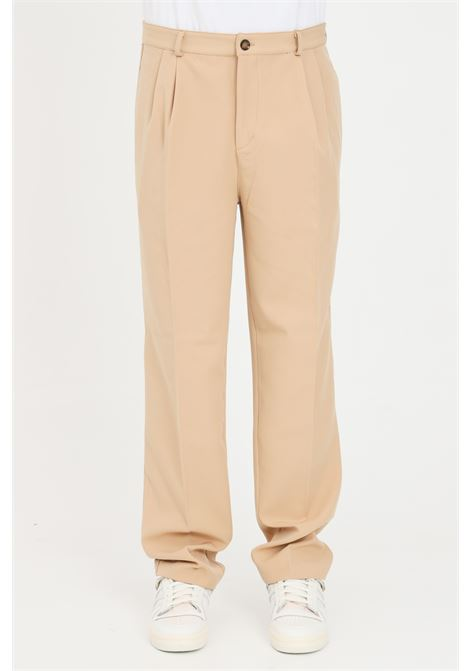 Beige unisex trousers in solid color. The future THE FUTURE | Pants | TF0013BEIGE