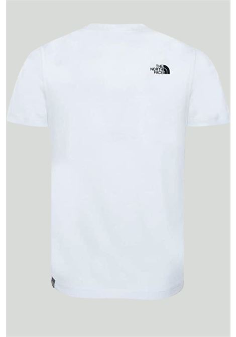 White t-shirt with front logo, short sleeves. Baby model. Brand: The north face THE NORTH FACE | T-shirt | NF00A3P7LA91LA91