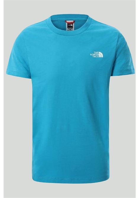 Light blue simple dome t-shirt with contrasting front logo, short sleeves. Baby model. Brand: The north face THE NORTH FACE | T-shirt | NF0A2WAND7R1D7R1