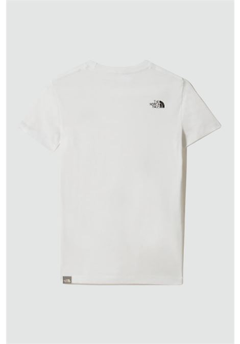 White t-shirt with contrasting front logo, short sleeves. Baby model. Brand: The north face THE NORTH FACE | T-shirt | NF0A2WANLA91LA91