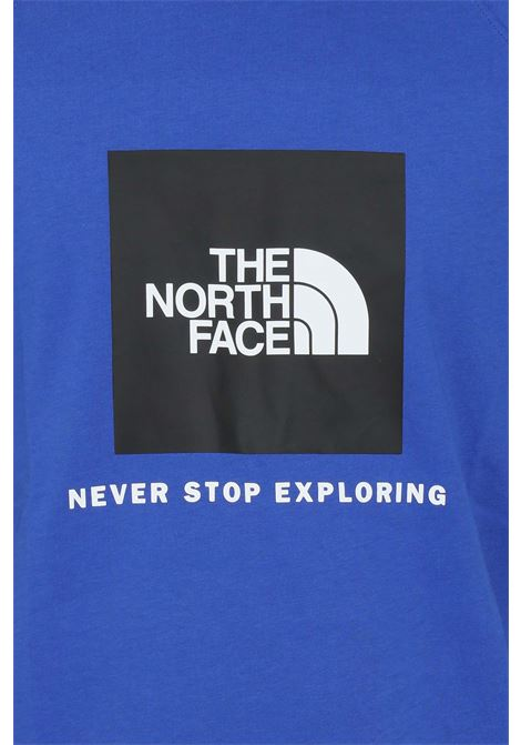 Blue t-shirt with contrasting logo print on the front. The north face THE NORTH FACE | T-shirt | NF0A3BQOCZ61CZ61