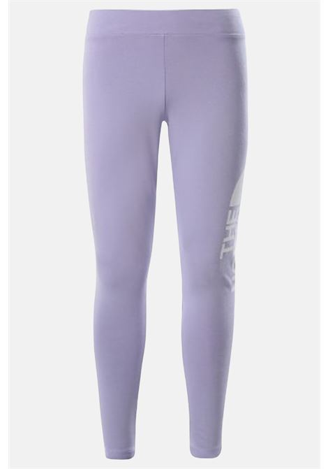Glicine leggings with contrasting side logo. Baby model. Brand: The north face THE NORTH FACE | Leggings | NF0A3VEHW231W231