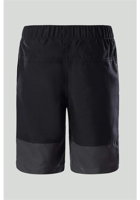 Shorts bambino nero the north face con elastico in vita, banda grigia sul fondo e logo a contrasto THE NORTH FACE | Shorts | NF0A3YBL0GH10GH1