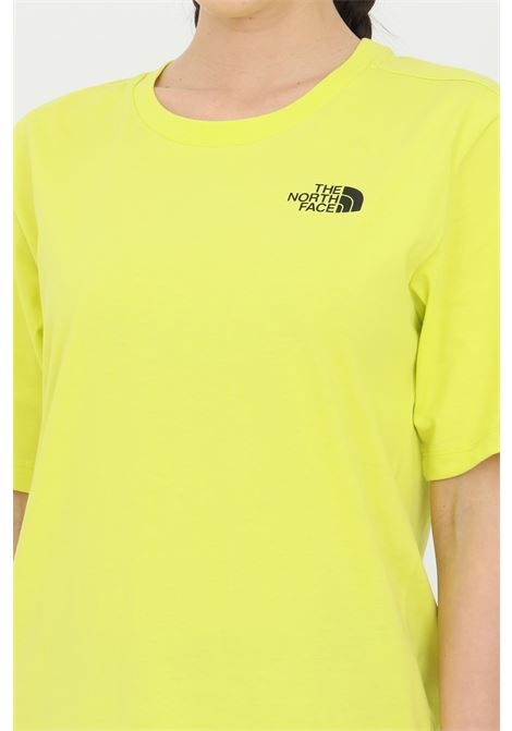 Yellow simple basic t-shirt with ribbed crew neck and light transparency, short sleeve. The north face THE NORTH FACE | T-shirt | NF0A4CESJE31JE31
