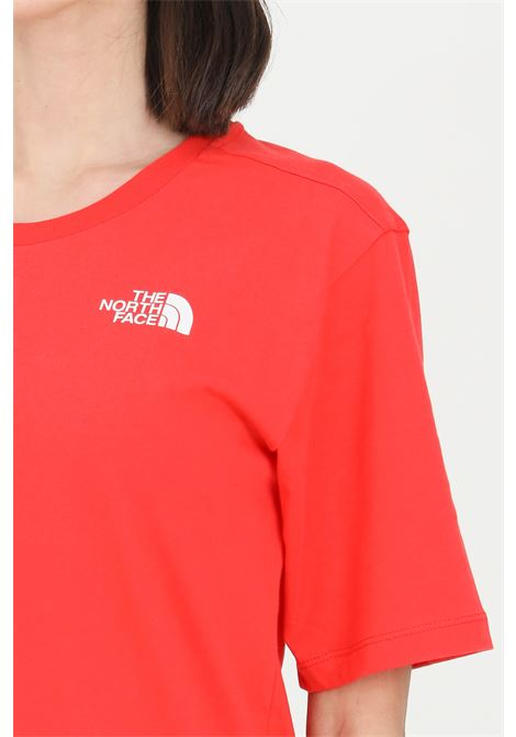 Red simple basic t-shirt with ribbed crew neck and light transparency, short sleeve. The north face   THE NORTH FACE | T-shirt | NF0A4CESV331V331