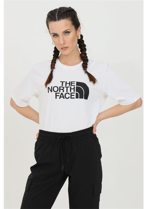 White coordinates t-shirt with maxi logo print on the front, short sleeve. The north face THE NORTH FACE | T-shirt | NF0A4M5PLA91LA91