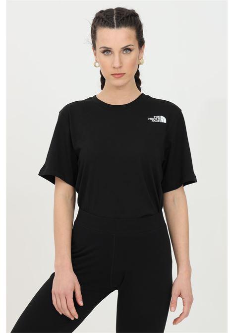 T-shirt simple basic donna nero the north face a manica corta con logo sul retro THE NORTH FACE   T-shirt   NF0A4M5QJK31JK31